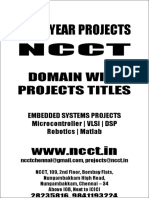 2 --- 2010-11 - Embedded Projects Domain Wise Project Titles 2010 NCCT Final Year Projects