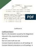 Coefficient A