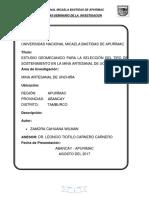 Estudio Geomecanico en La Mina Artesanal de Unchiña
