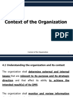 Context of the Organization (QMS)