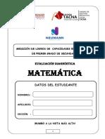 Evaluacón Dagnostica 1ro de Secundaria (1) (1)j