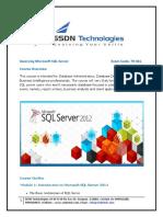 MCSA-SQL-Server-2012(70-461)