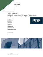 Agile Metrics- Progress Monitoring of Agile Contractors