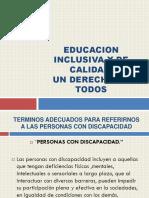 Educacion Inclusiva y de Calidad