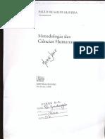 Texto 1 - OLIVEIRA, Paulo de Salles. Caminhos de Construção Da Pesquisa Em Ciências Humanas.