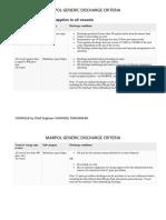 Marpol Generic Discharge Criteria