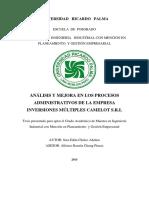 ANTECEDENTES 03 Tesis Maestría Análisis y Mejora en los Procesos Administrativos de una Empresa.pdf