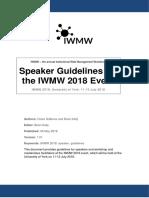 IWMW 2018 Speaker Guidelines