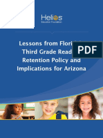 Lessons From Floridas Third Grade Reading Retention Policy and Implications for Arizona