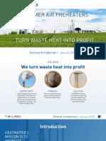 Polymer Air Pre Heater