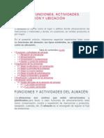 Funciones Del Almacén (Ok)