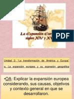 EXPANSION EUROPEA 8° clase 1 y 2 OF VIERNES