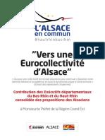 """""""Vers une Eurocollectivité d'Alsace"""""""