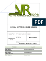 VR-PRV-PG-001 Programa de Prevencion de Riesgos