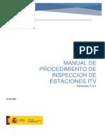 Manual de Procedimiento de Inspeccion de Estaciones ITV v731 May 2018