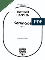 Hanson - Serenade Pno