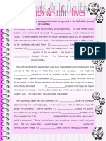 Gerunds and Infinitives TASK 01