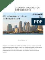 Cómo Hackear Un Idioma en Un Tiempo Record