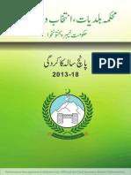 Local Govt - KPK Performance report