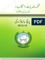 Local Govt - KPK Performance report