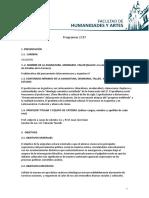 Pensamiento II. Programa2018. PLyA