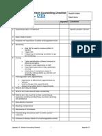 Appendix 10 - Warfarin Counselling Checklist