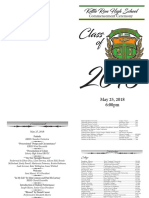 Kettle Run Graduation Program 2018