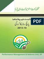 Agriculture Department KPK - Performance report 2013-2018