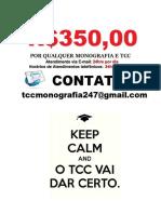 Tcc e  monografia por R$350.00 para qualquer universidade