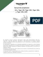 Tiger 800 Series Owners Handbook Spanish