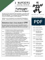 Walkathon Newsletter #5 - 10/01/10