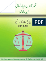 Law Department KPK - Performance Report 2013-2018