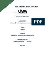 Desarrollo Del Lenguaje en La Etapa Infantil T4