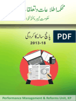 Information Department KPK Performance Report -2013-2018