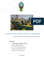 Puentes de Regulacion y Medicion