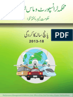 Transport Department KPK - Performance report 2013-2018