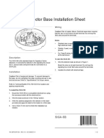 SIGA SB Detector Base Installation Sheet