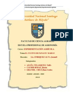 Universidad Nacional Santiago Antúnez de Máyalo Experimentacion