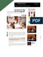 """26-05-18 Tiene Miguel Castro el """"día más triste"""" de su campaña"""