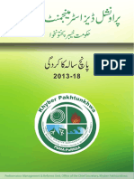 Provincial Disaster Management Authority KPK - Performance Report 2013-2018