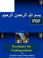 Psychiatry 6th Year Final Lecture 2012-2013