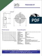 Ventilador Axial 630mm