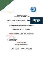 SIX SIGMA, ISO 9000,BALDRIGE