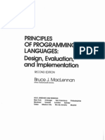 Principles of Programming Languages - Design, Evaluation and Implementation
