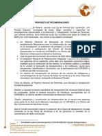 2018 - Propuesta de Recomendaciones de COFADEH sobre el tema de Desaparición Forzada