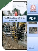 Trabajo de Compactacion de Concreto Tco 2014