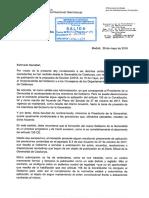Carta del secretario de Estado de Administraciones Públicas sobre el nombramiento de consellers