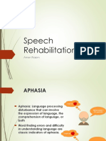Speech Rehabilitation