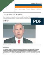 Despide Pemex a la Subdirectora de Económico - Financiera de la Dirección Corporativa de Finanzas