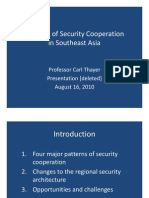 Thayer Patterns of Security Cooperation in Southeast Asia